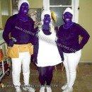 Homemade Smurfette, Brainy and Handy Smurf Costumes