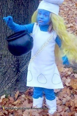 Homemade Smurfette Costume