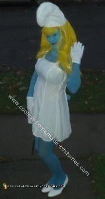 Homemade Smurfette Halloween Costume