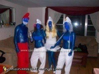 Homemade Smurfs Group Costume