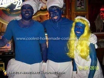 Homemade Smurfs Group Halloween Costume