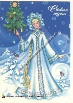 Inspiration for my Homemade Snegurochka Russian Snow Maiden Costume