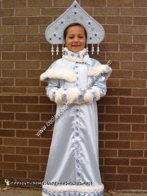 Homemade Snegurochka Russian Snow Maiden Costume