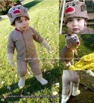 Homemade Sock Monkey Costume