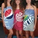 Homemade Soda Can Group Halloween Costume