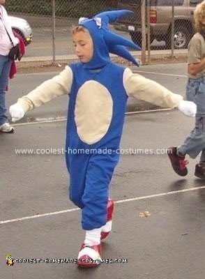 Homemade Sonic the Hedgehog Costume