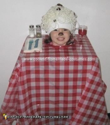 Homemade Spaghetti and Meatballs Costume