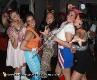 Homemade Spice Girls Group Costume