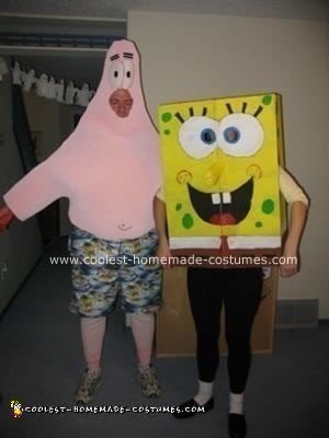 Homemade Sponge Bob and Patrick Costumes