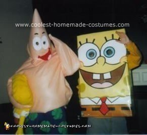 Homemade Spongebob and Patrick Costumes