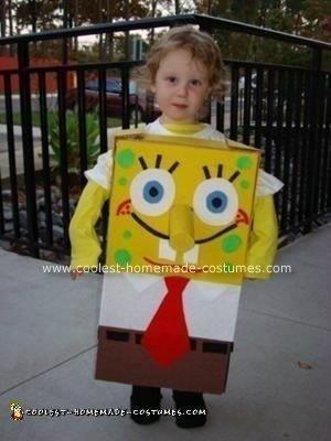 Homemade Spongebob Halloween Costume