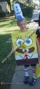 Homemade Spongebob Kids Costume