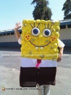 Homemade Spongebob Square Pants Costume