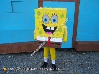 Homemade SpongeBob SquarePants Halloween Costume
