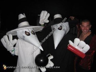 Homemade Spy vs. Spy Couple Halloween Costume