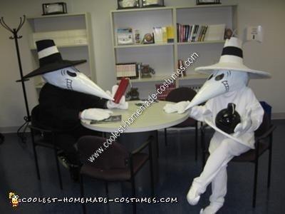 Homemade Spy vs. Spy Couple Halloween Costume