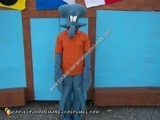 Homemade Squidward Halloween Costume