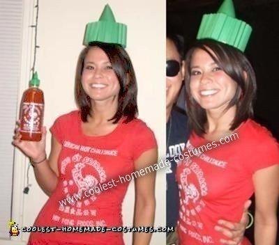 Homemade Sriracha Hot Sauce Costume