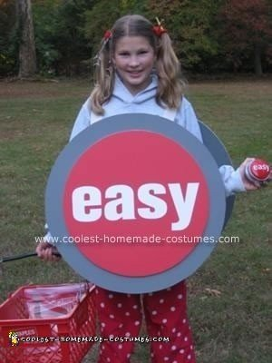 Homemade Staples Easy Button Halloween Costume