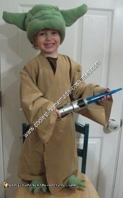 Homemade Star Wars Yoda Halloween Costume Idea