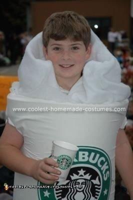 Homemade Starbucks Coffee Cup Costume