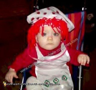 Homemade Strawberry Shortcake Baby Costume