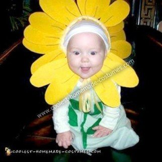 Homemade Sunflower Baby Costume
