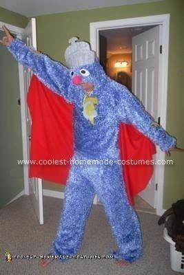Homemade Super Grover Costume