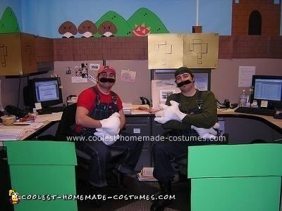 Homemade Super Mario Brothers Office Costume