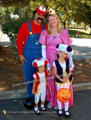 Homemade Super Mario Group Halloween Costume