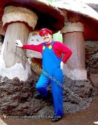 Homemade Super Mario Halloween Costume