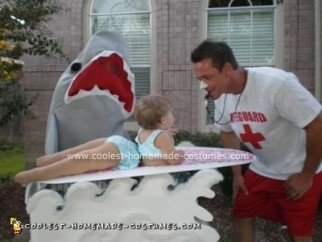 Homemade Surfer With Shark Costume