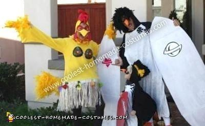 Homemade Surf's Up Family Costume