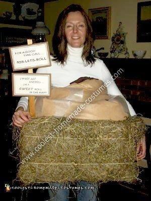 Homemade Sweet Roll in the Hay Wordplay Costume