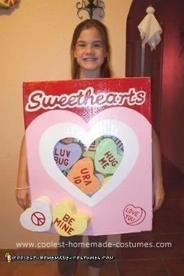 Homemade Sweethearts Candy Costume