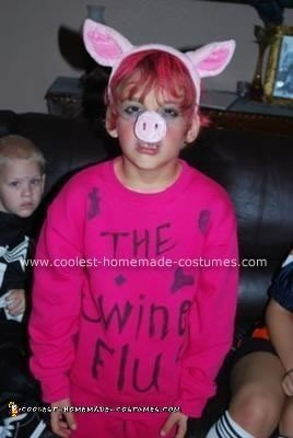 Homemade Swine Flu Costume