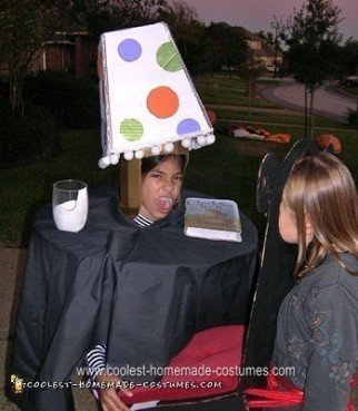 Homemade Table and Lampshade Halloween Costume Idea