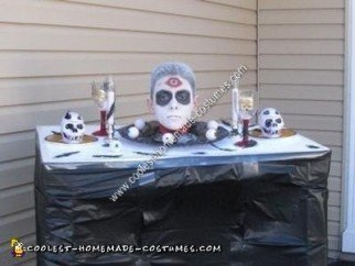 Homemade Table of Death Halloween Costume Idea