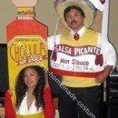 Homemade Tapatio vs Cholula Hot Sauce Costumes