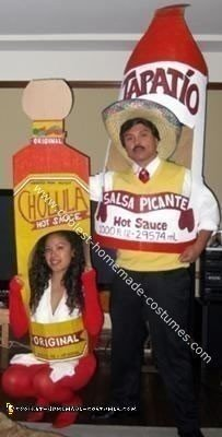 Homemade Tapatio vs Cholula Hot Sauce Costumes