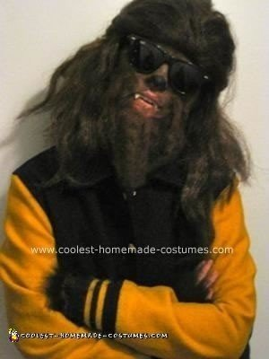 Homemade Teen Wolf Halloween Costume