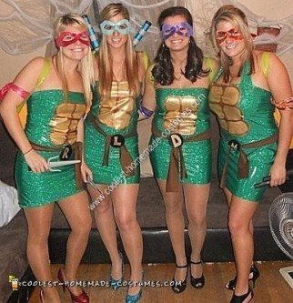 Homemade Teenage Mutant Ninja Turtle Group Costume Ideas