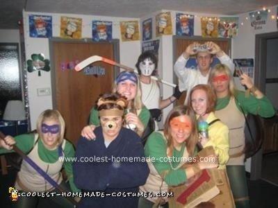 Homemade Teenage Mutant Ninja Turtles Costume