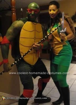 Homemade Teenage Mutant Ninja Turtles Couple Costume