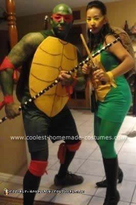 Homemade Teenage Mutant Ninja Turtles Couple Costume