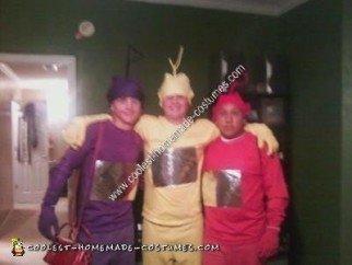 Homemade Teletubbies Adult Group Halloween Costume Idea