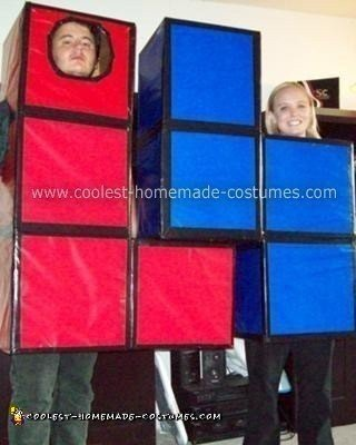 Homemade Tetris Couple Halloween Costume