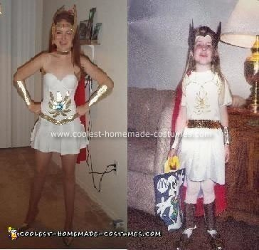 Homemade Then and Now She-Ra Costumes