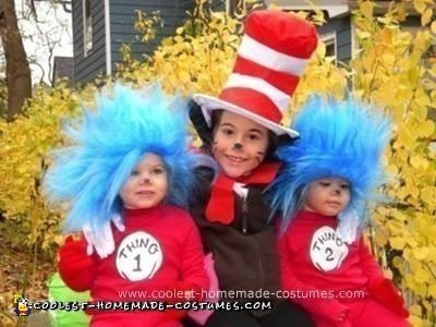Homemade Thing 1 and 2 Costume