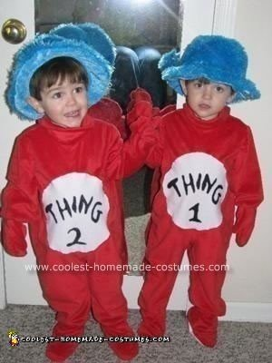 Homemade Thing 1 and Thing 2 Toddler Costumes